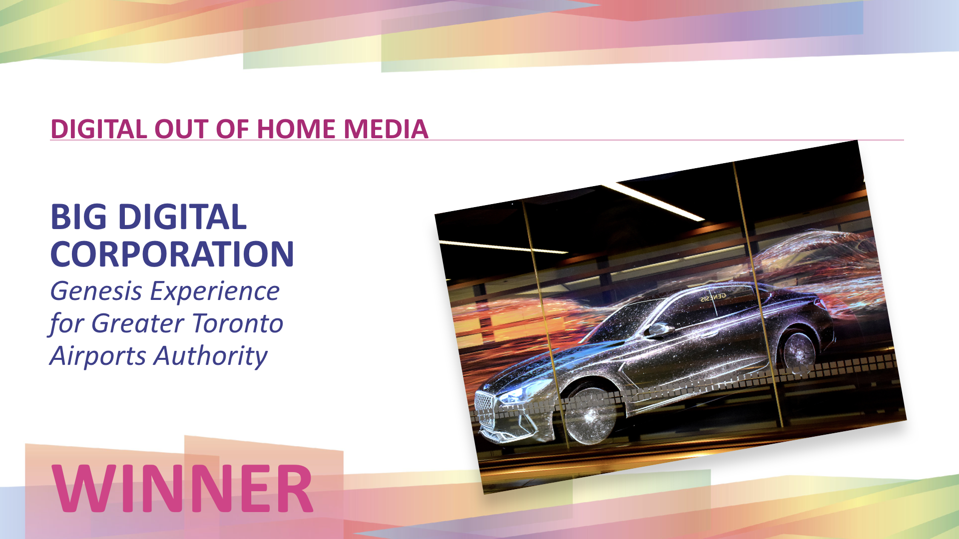 "Featured image for ""Toronto's Big Digital won for its projection-mapped experience at Pearson Airport"""
